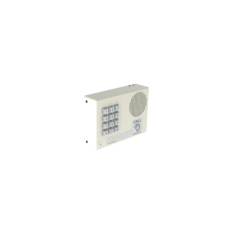 SIP Indoor Intercom w/Keypad, Wall Mount - Signal White