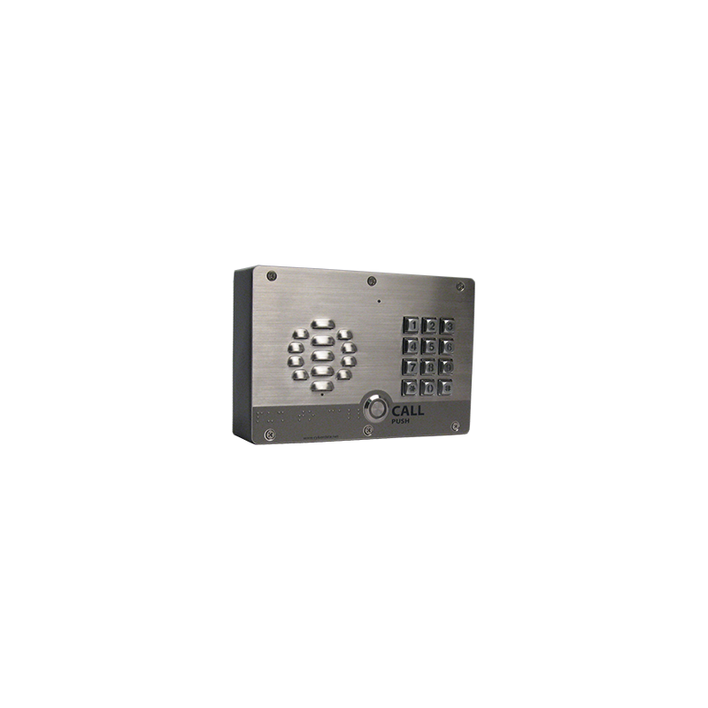 SIP Outdoor Intercom w/Keypad - Shown with Optional Shroud