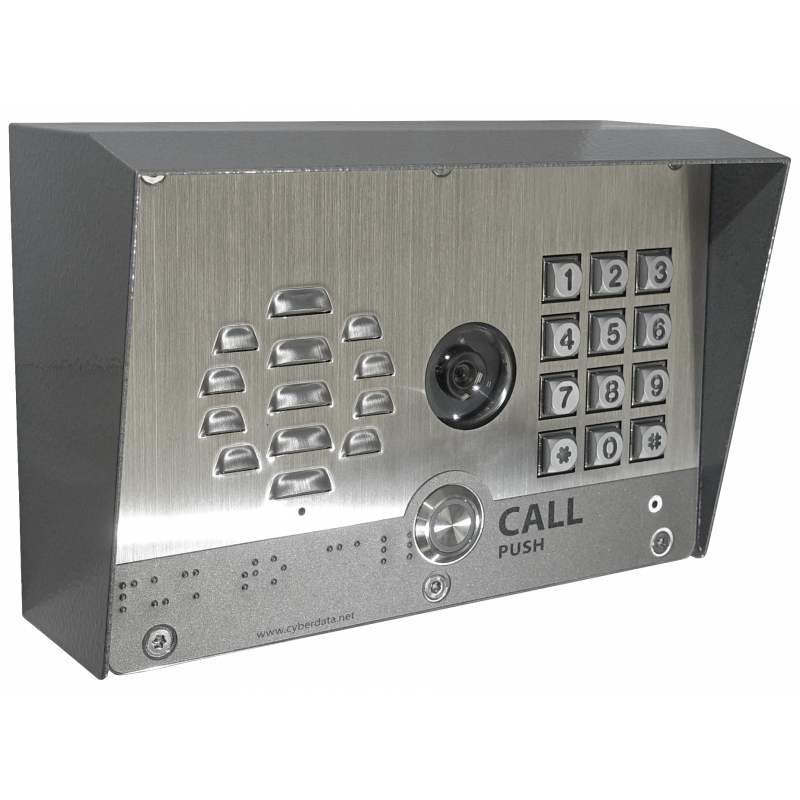 SIP-enabled Outdoor H.264 Video Intercom w/Keypad